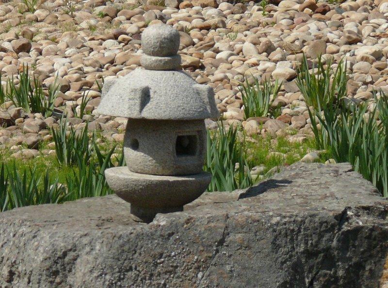 Stone lantern in the  Kurimoto garden