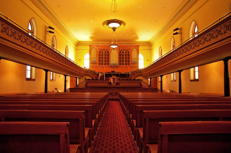 Interior - Looking Towards Podium & Pipe Organ