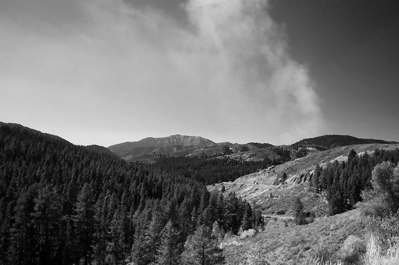 Teton Pass Between Driggs, Idaho & Jackson, Wyoming