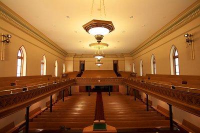 Interior looking from podium