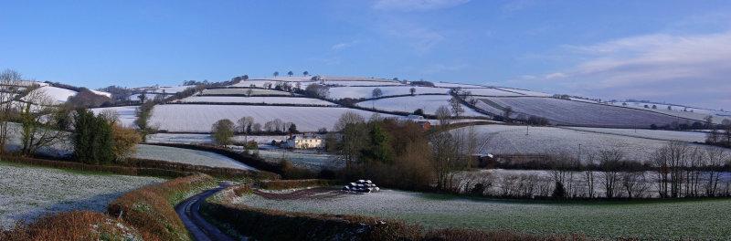 Snow over Yarde Downs - Devon