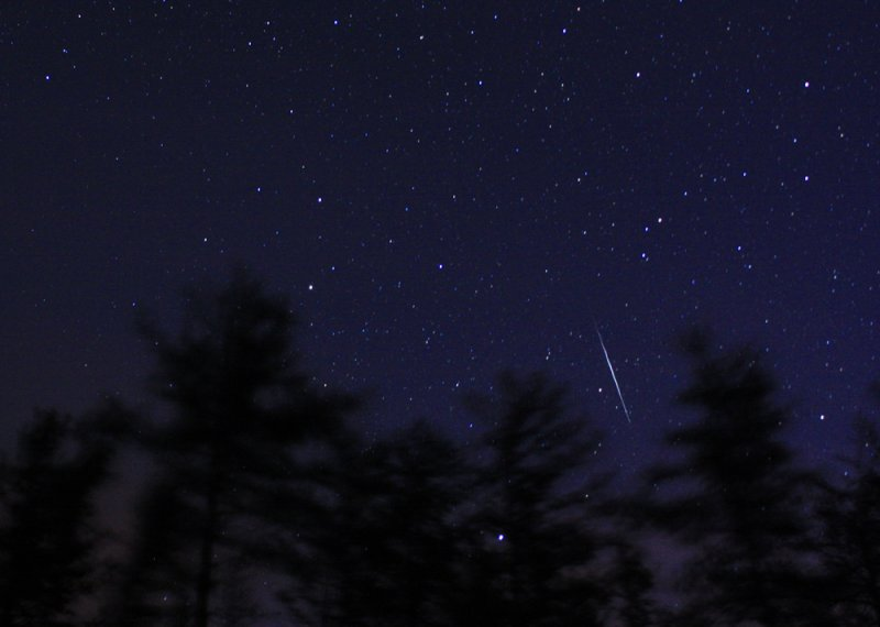 Quadrantid Meteor on a Clear Winter Night