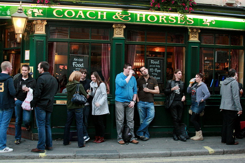 Coach and horses,