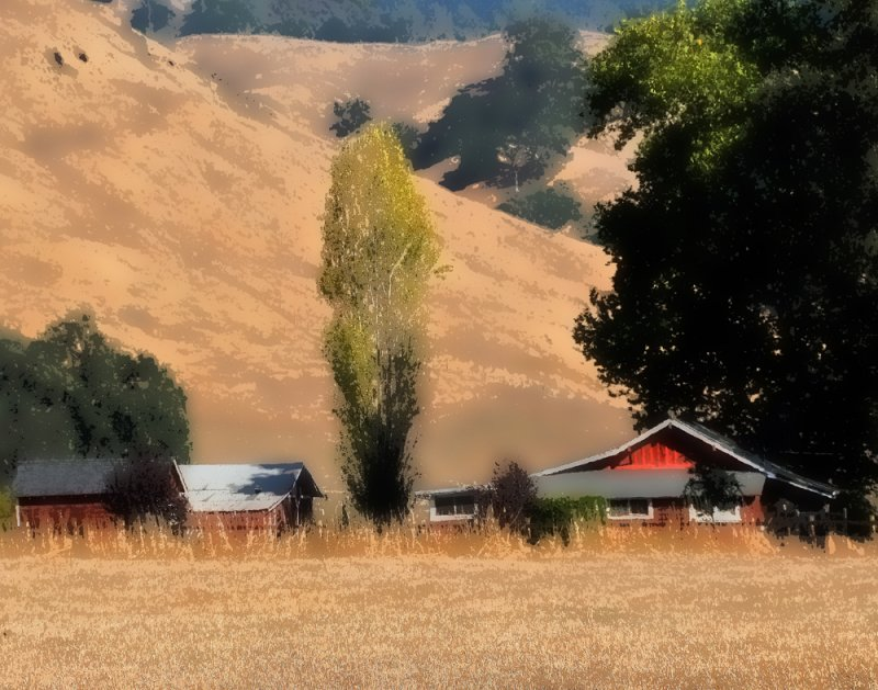 Farm House (Painterly-Fashion), on the way to Healdsburg