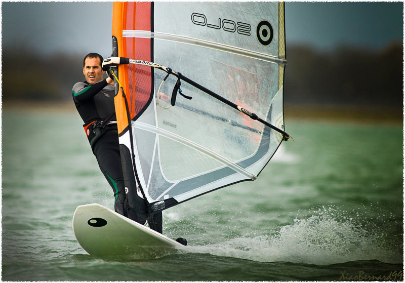 LAC DU DER.Wind surfer on the Lake II
