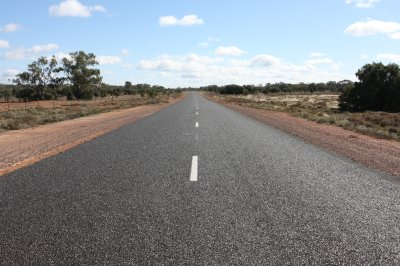 The long straight road