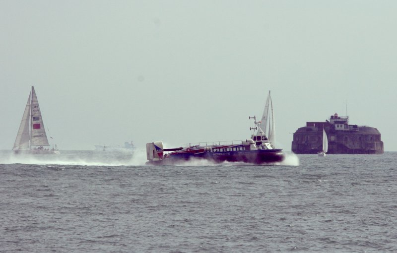 The Isle of Wight hovercraft going over to the Island