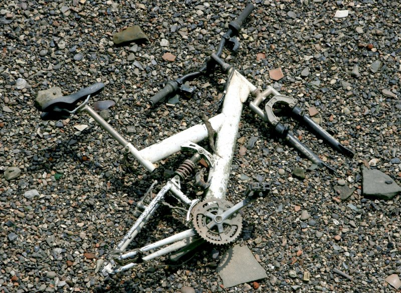 The River Thames is the offical graveyard for dead bicycles.