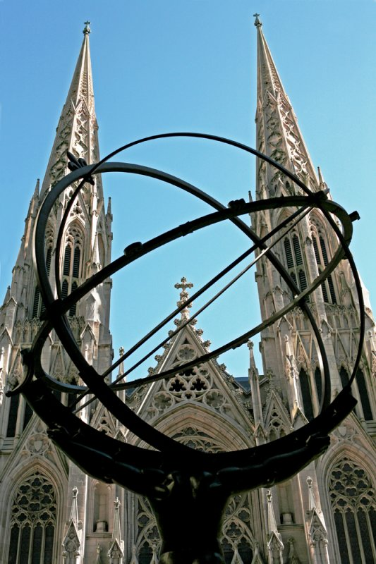 Atlas and St Patricks Cathedral