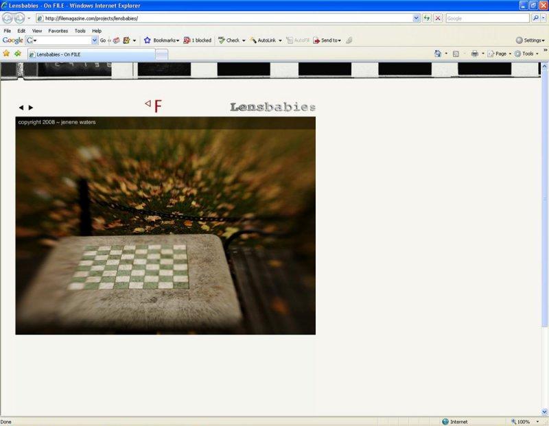 File Magazine Lensbaby Gallery November 2008