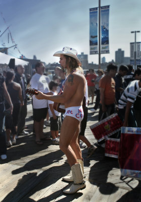 Naked Cowboy -South Street Seaport