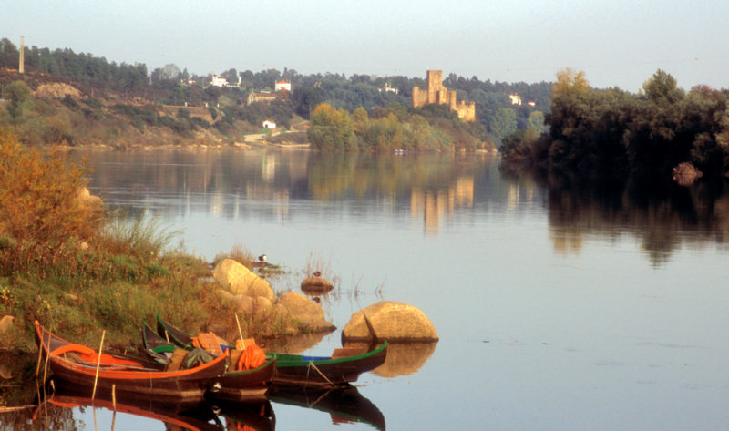 Tagus River and Almourol Castle