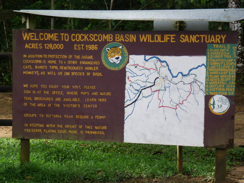 Cockscomb Jaguar Reserve Entrance Stann Creek Belize 2-12-2009 8.JPG