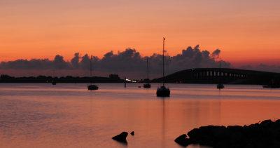 Sunrise over Pineda Causeway
