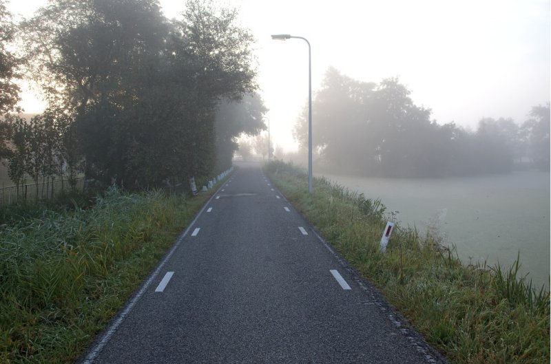 Zuideinde at a misty morning