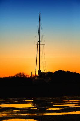Sailing boat at Dusk