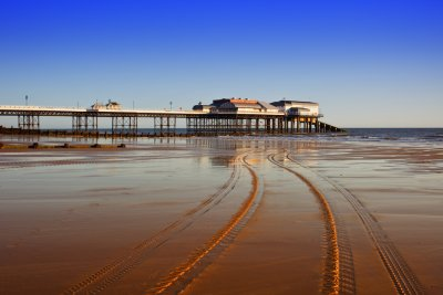 Cromer Pier with Tractor Tracks