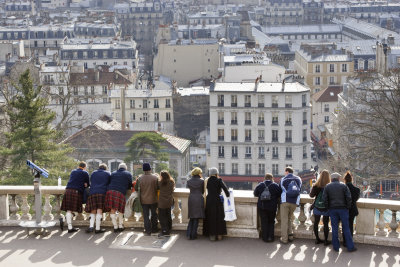 Looking over Paris from Sacre Coeur.