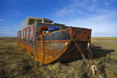 Beached House Boat