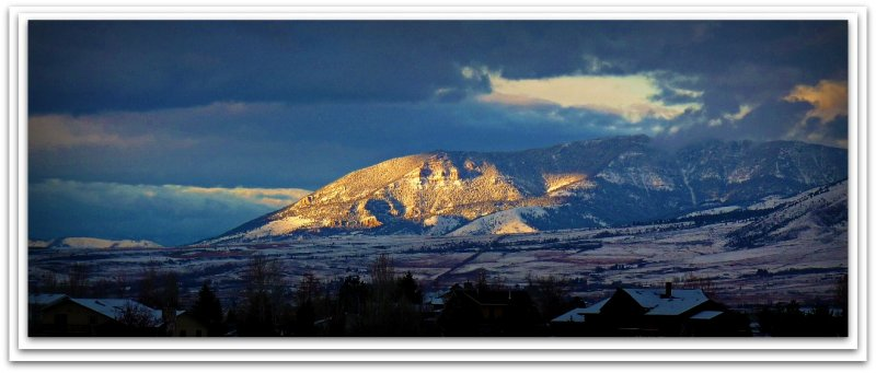 light on mountain