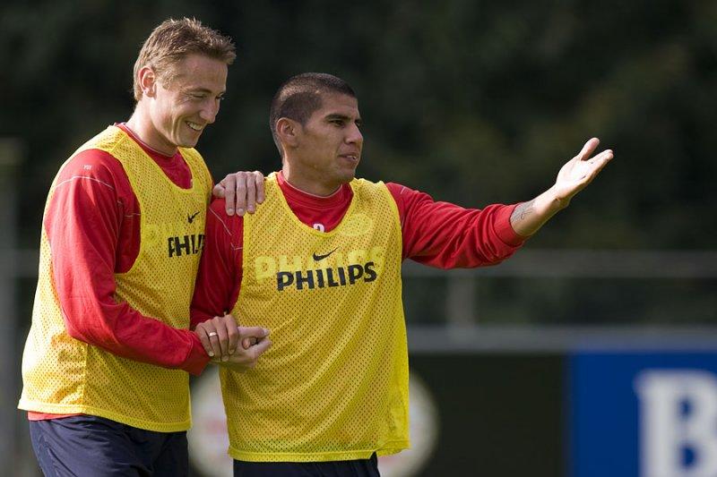 Jan Kromkamp and Carlos Salcido