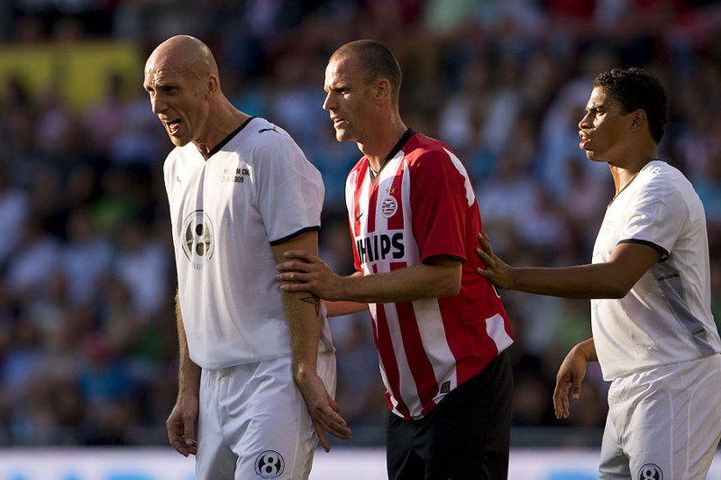 Jaap Stam, Andre Ooijer and Michael Reiziger
