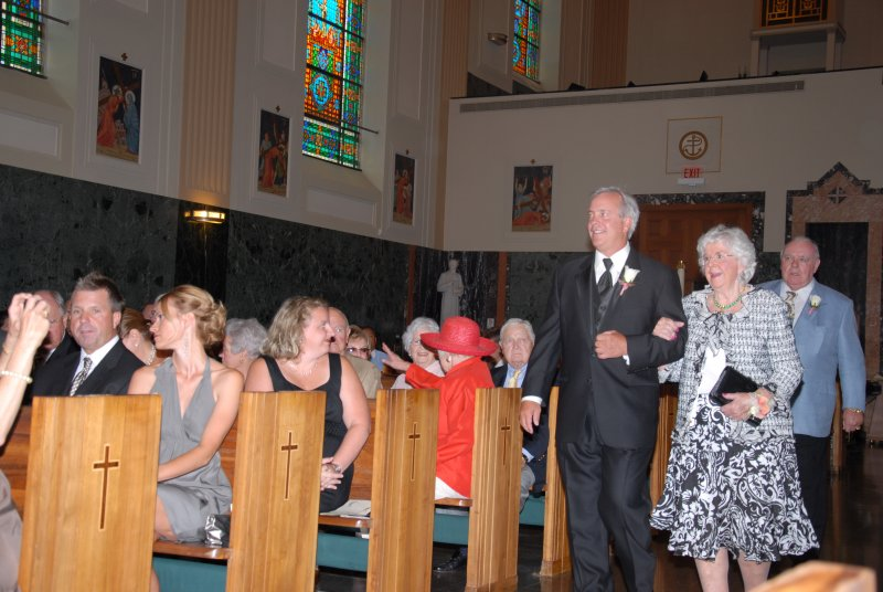Father and grandparents of groom