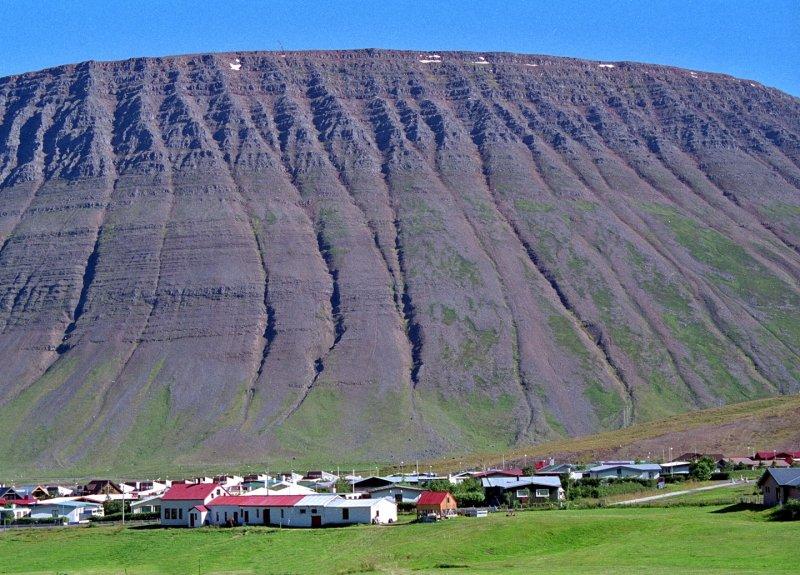 Icelandic Mountain Village in Summer