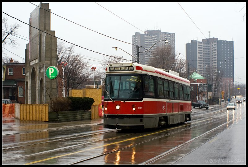 Street Car at Gerrard & Broadview