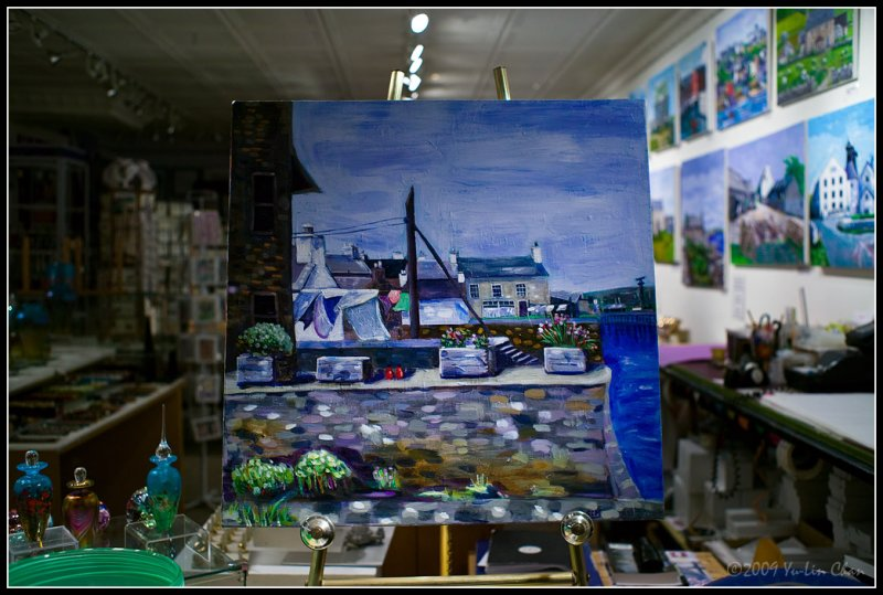 Painting on display window