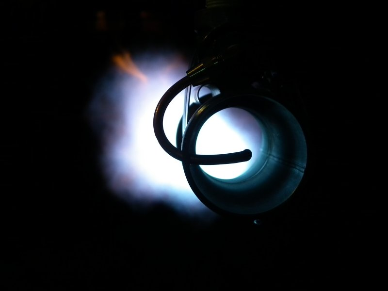 Looking Down Burner Tube.JPG