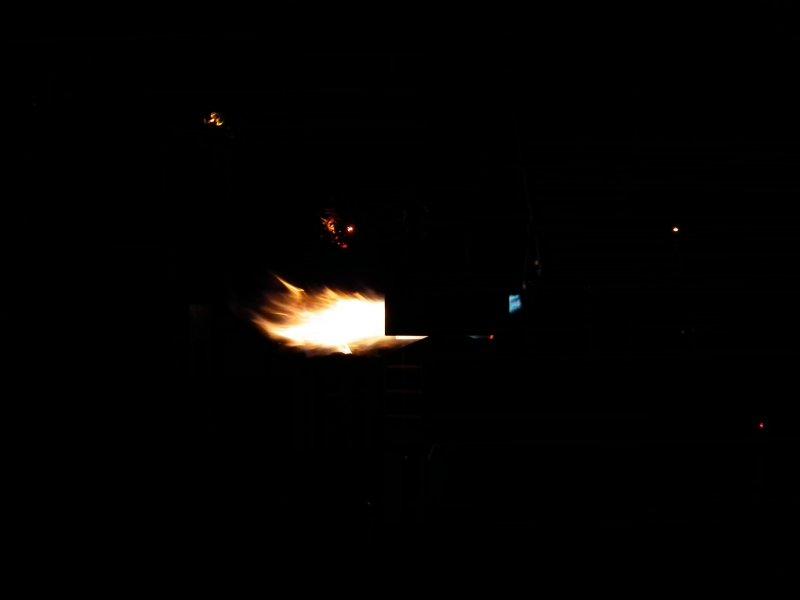 Solo Flame Through Fork.JPG