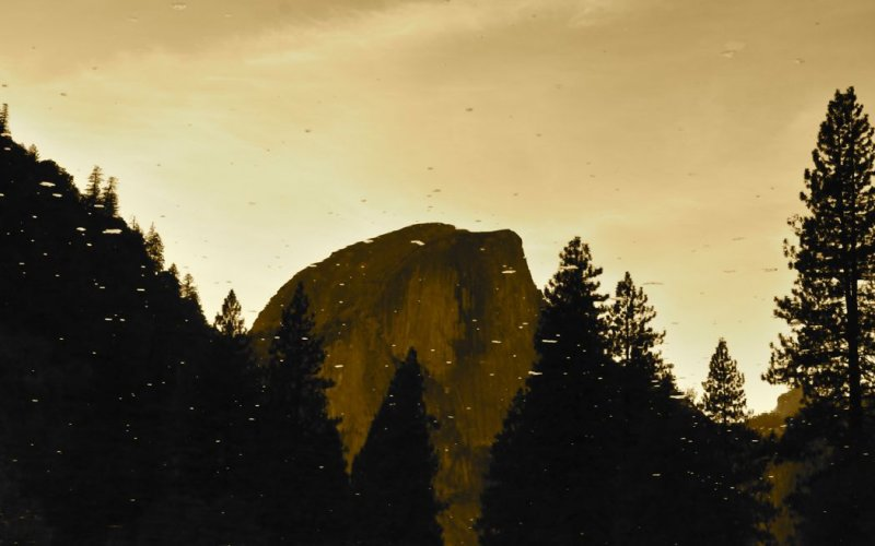 Half Dome, Flipped in Reflection of the Merced River