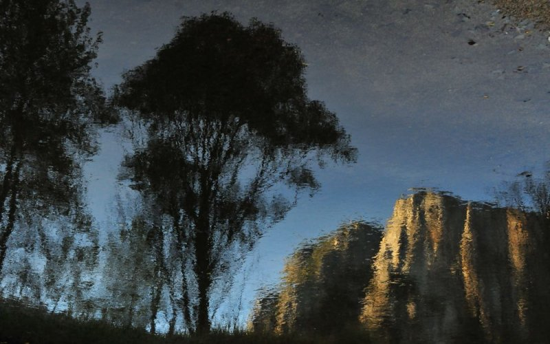Mered River - Flipped Reflection