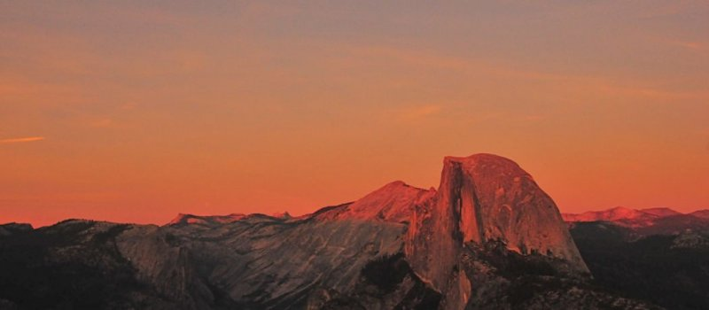 Late Light Over Half Dome