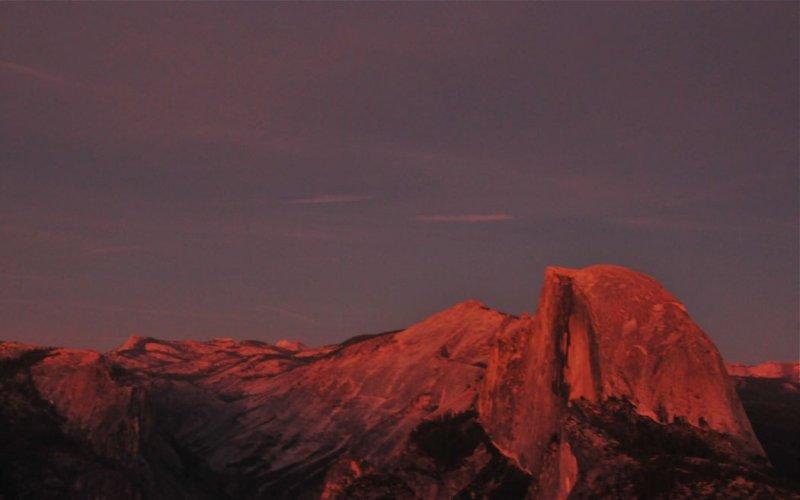 Late Light Over Half Dome