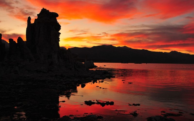 Sunset Over Mono Lake