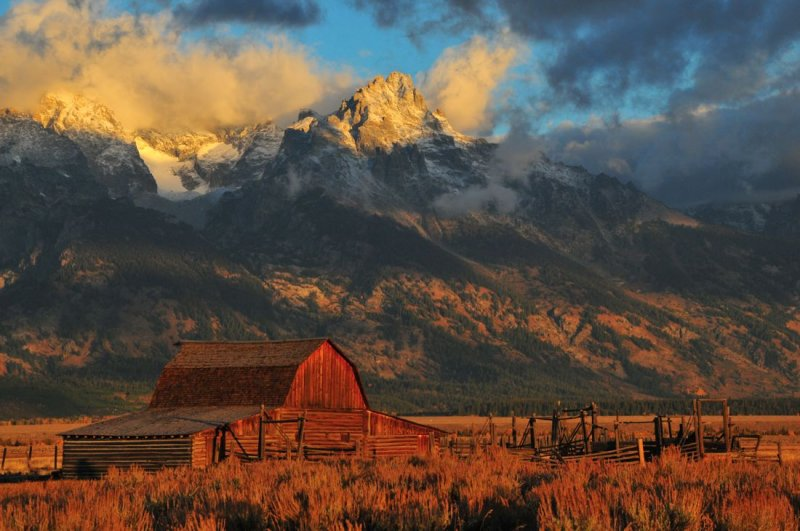 Mormon Barn (late 1890s), Below the Tetons Under Storm Conditions