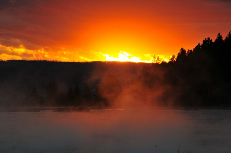 Sunset Over Hot Lake