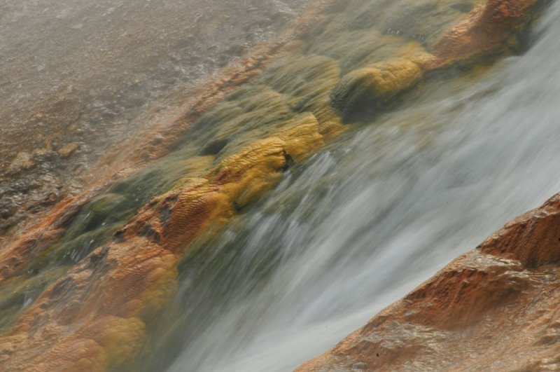 Hot Creek Flows from Excelsior Geyser, Yellowstone
