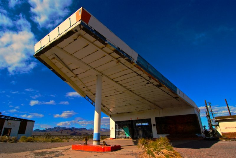 An Abandoned Gas Station