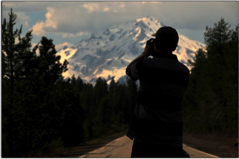 Mount Shasta and Photographer