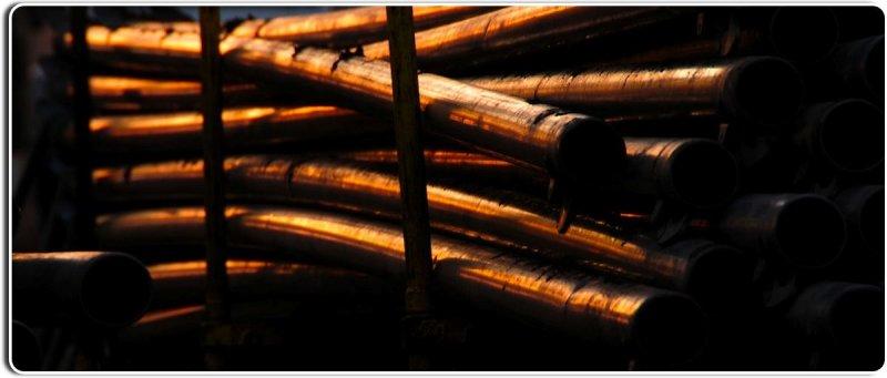 Irrigation Pipes at Sunset, Salinas Valley