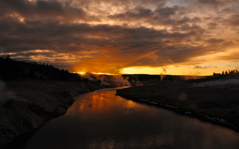 Dawn Over the Firehole River