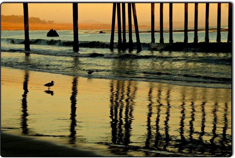 San Simeon Pier in Reflection