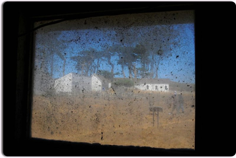 Looking Out the Window of the Milking Barn at Pierce Ranch, Pt. Reyes