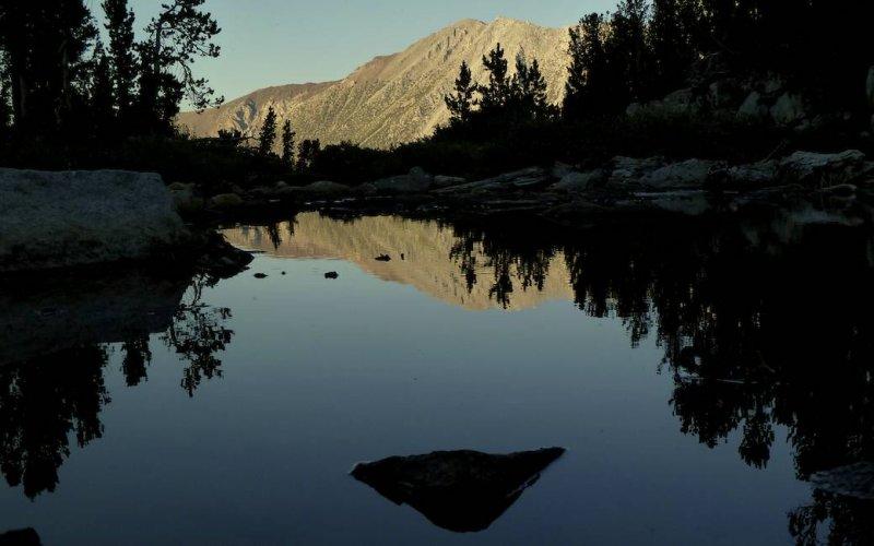 An alpine tarn near camp.