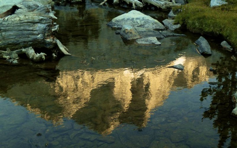 Reflection of Mt Crocker.