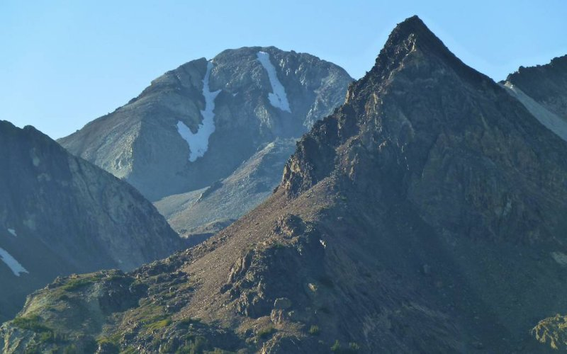 Closer view of Red Slate Mountain.