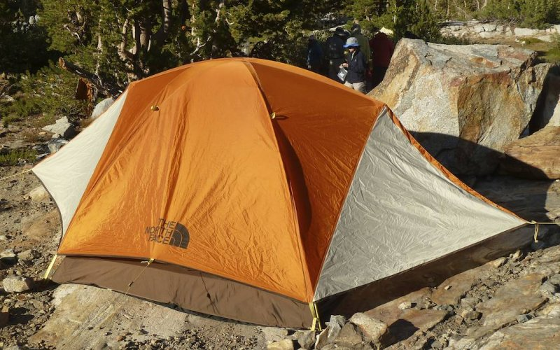 Our tent clings limpet-like to its rock platform.